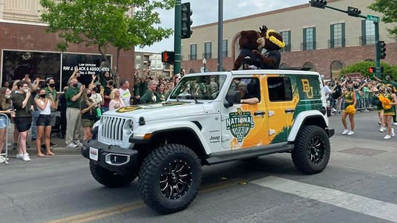 Baylor head basketball coach Scott Drew won't accept the gift of a Jeep decorated with...