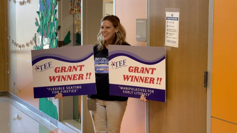 Shelli Sissel, a first grade teacher at Thornton Elementary School, is one of the grant...