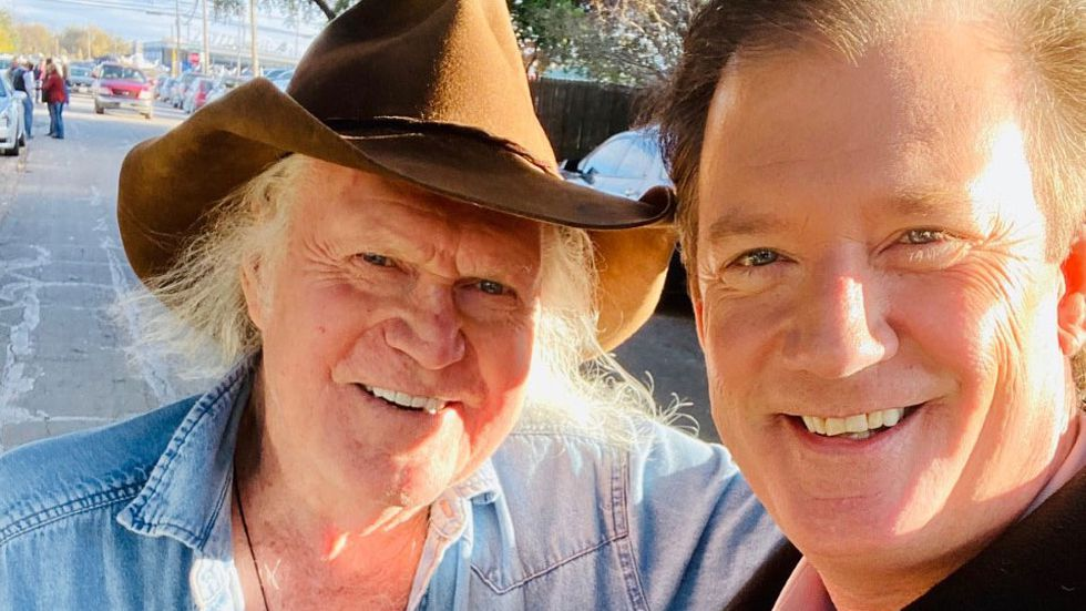 Billy Joe Shaver with Gordon Collier.