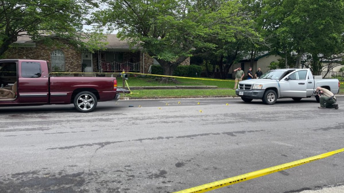 The shooting occurred in the 1500 block of Robertson Avenue.