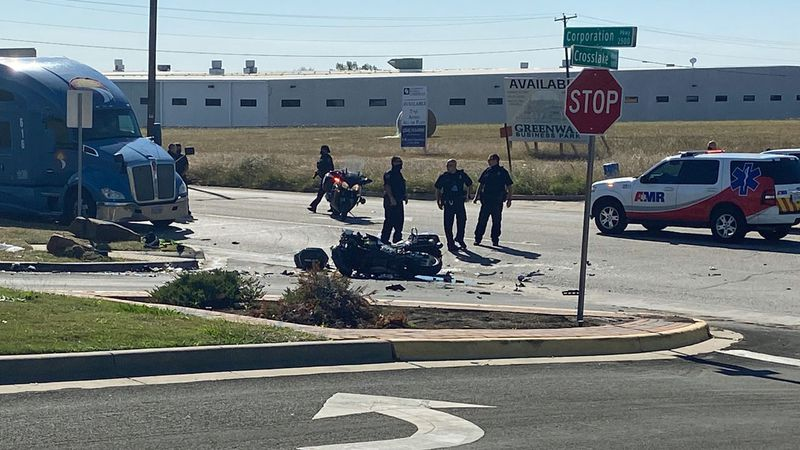 A local police officer was struck Wednesday morning while providing a motorcycle escort for a...