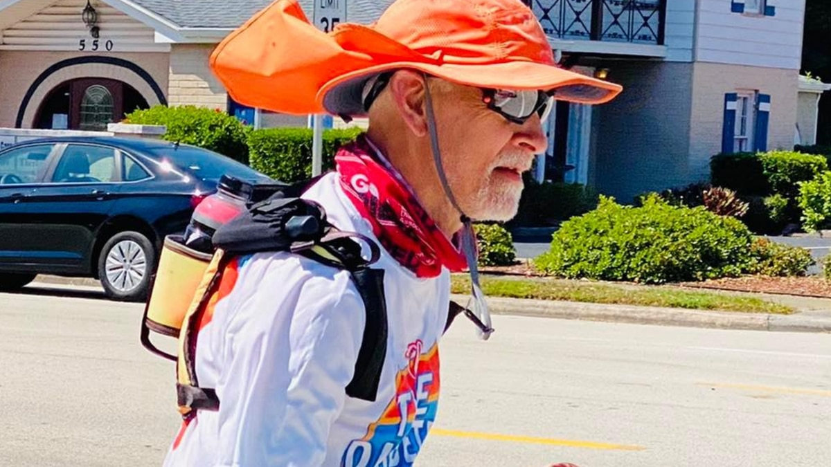 A Texas man, wanting to raise awareness of diabetes, just finished running from Disneyland in...