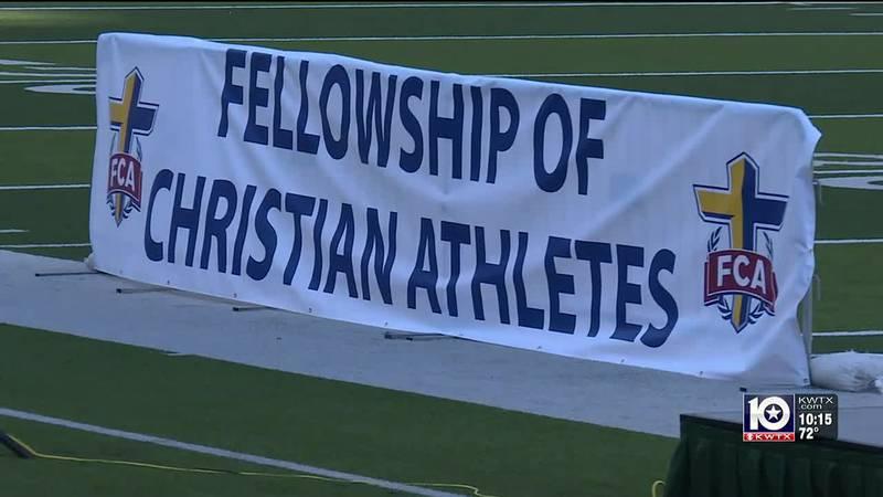 FCA Banner at Victory Bowl Banquet