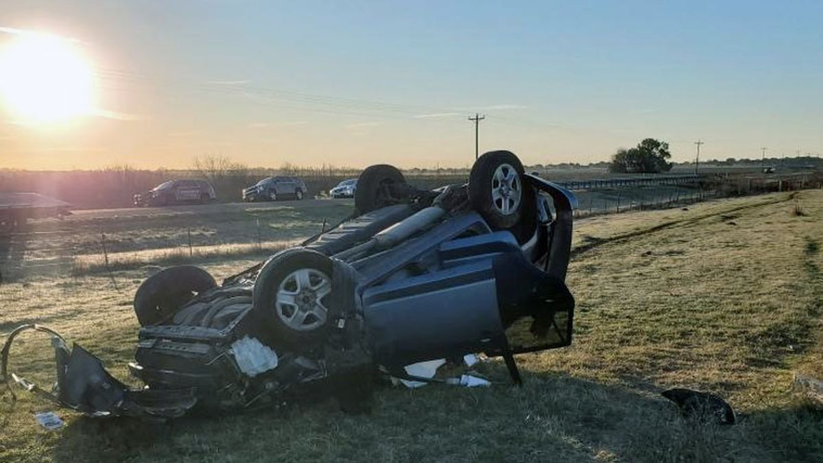 The accident happened on FM 434 near Satin,16 miles west of Marlin. (Falls County Sheriff's...