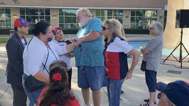 Dozens of Central Texans came together Friday evening in Waco with a prayer demonstration of...
