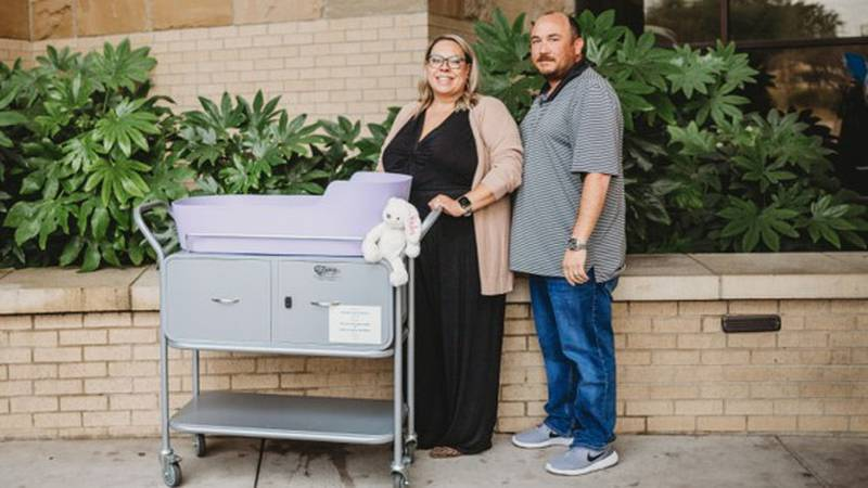 Ashley and Mark Alexander founded Parker's Purpose  Foundation to help donate cradles to other...