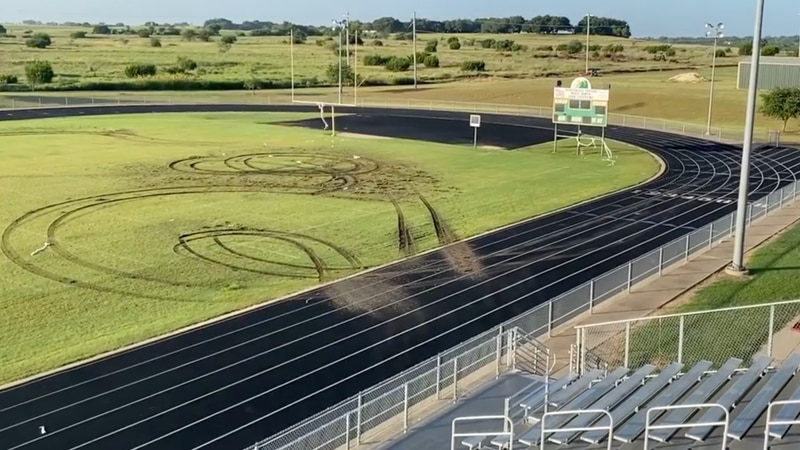 The act of vandalism at Valley Hills High School's football field resulted in more than $18,000...