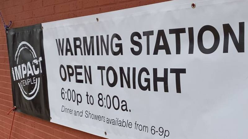 Warming stations opened Wednesday night in Temple and Killeen as temperatures dropped across...