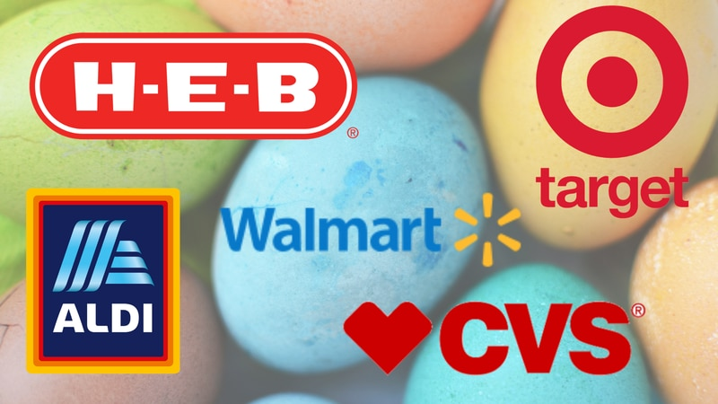 Multiple stores around the Central Texas area will be closed on Easter Sunday, April 4th.