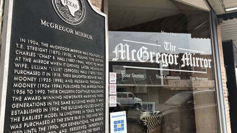 """The family-owned """"McGregor Mirror"""" has ceased publication after 117 years. A death in the..."""