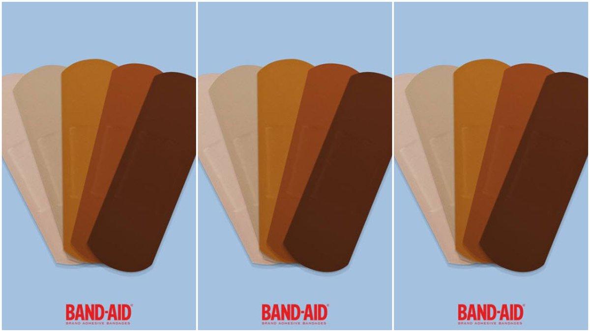 Band-Aid Brand provides new colors (photo credit: Johnson & Johnson Band-Aid)