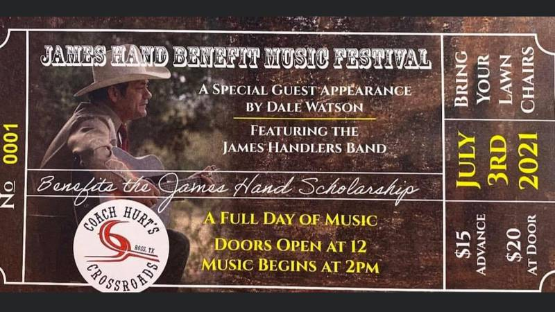 The inaugural James Hand Benefit Music Festival was held July 3 near the beloved musician's...