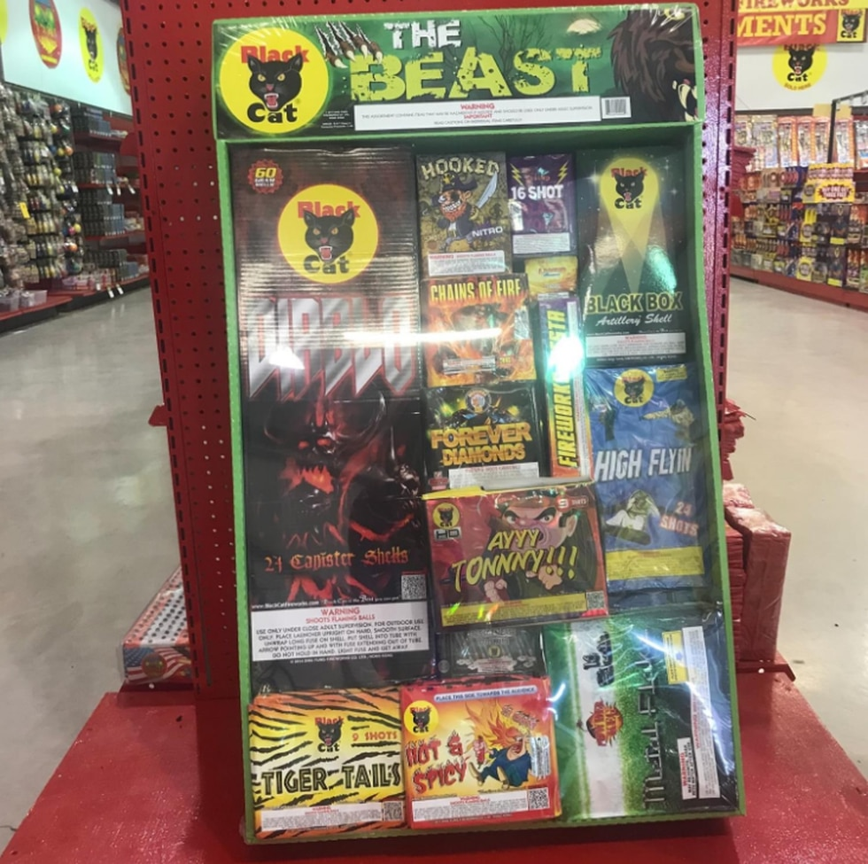 The Beast fireworks package retails for $549.  A fireworks vendor in Troy, Texas said only one...