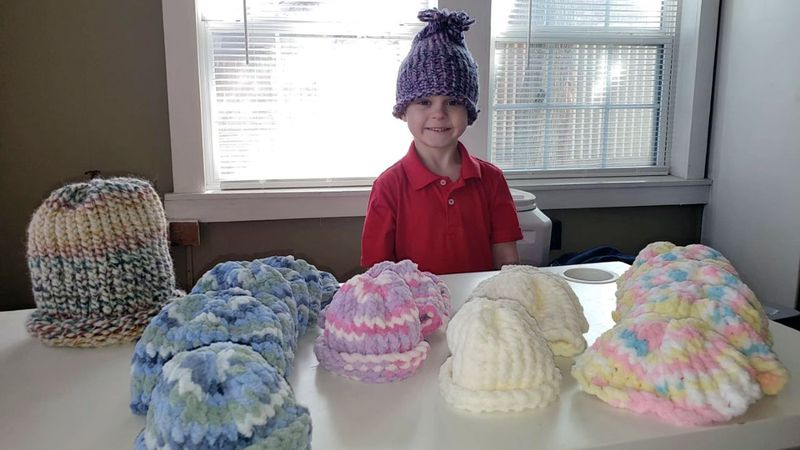 Kayden sent his first two caps to his family friend in Houston to deliver to a NICU there. ...