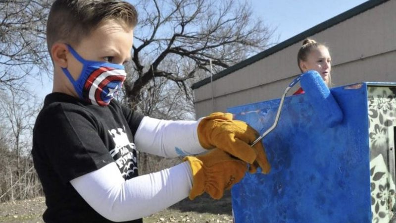 Maddox Tobias, with the help of his family and Copperas Cove Five Hills Royalty, refurbished...