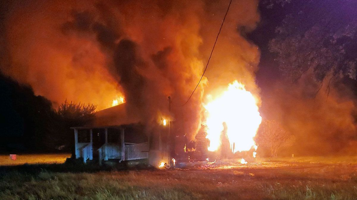 Crews battled an early-morning fire Friday at a home in Salado. (Bell County Fire Marshal's Office photo)