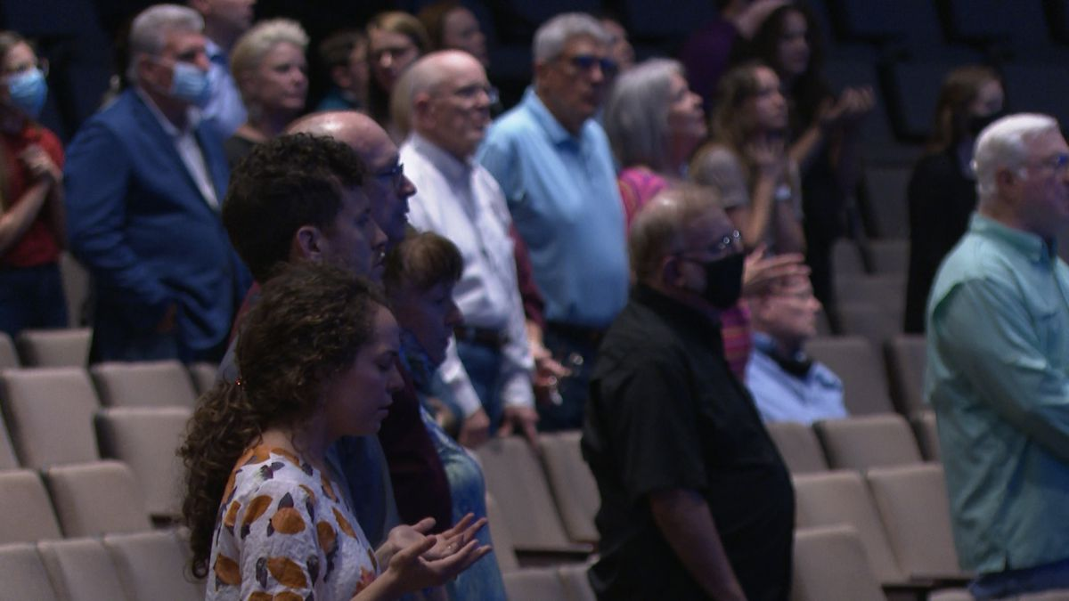 Community members came together at Central Church to pray for those affected by Thursday's mass...