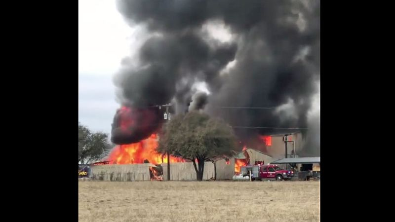 Crews from several area departments battled the flames.