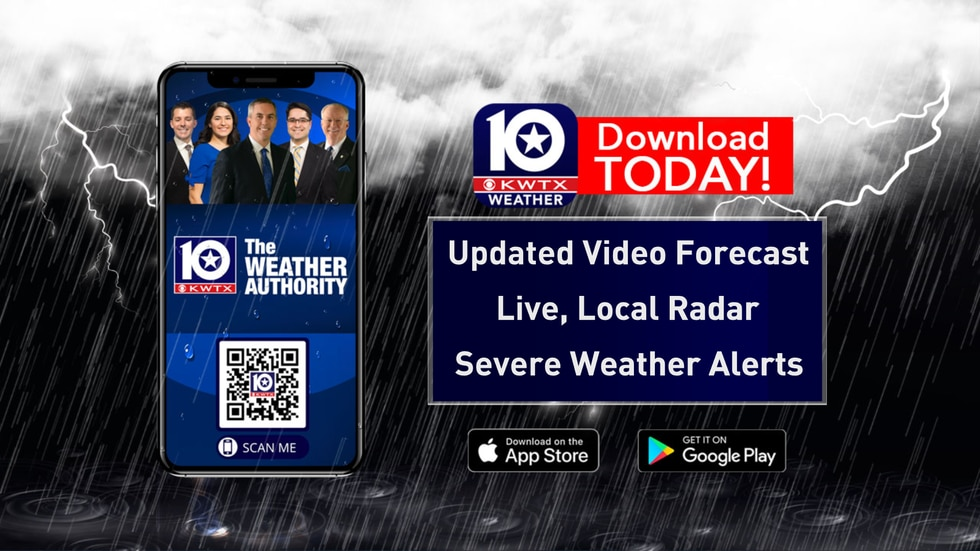download the KWTX Weather App for Free for the latest weather info along with watches/warnings...