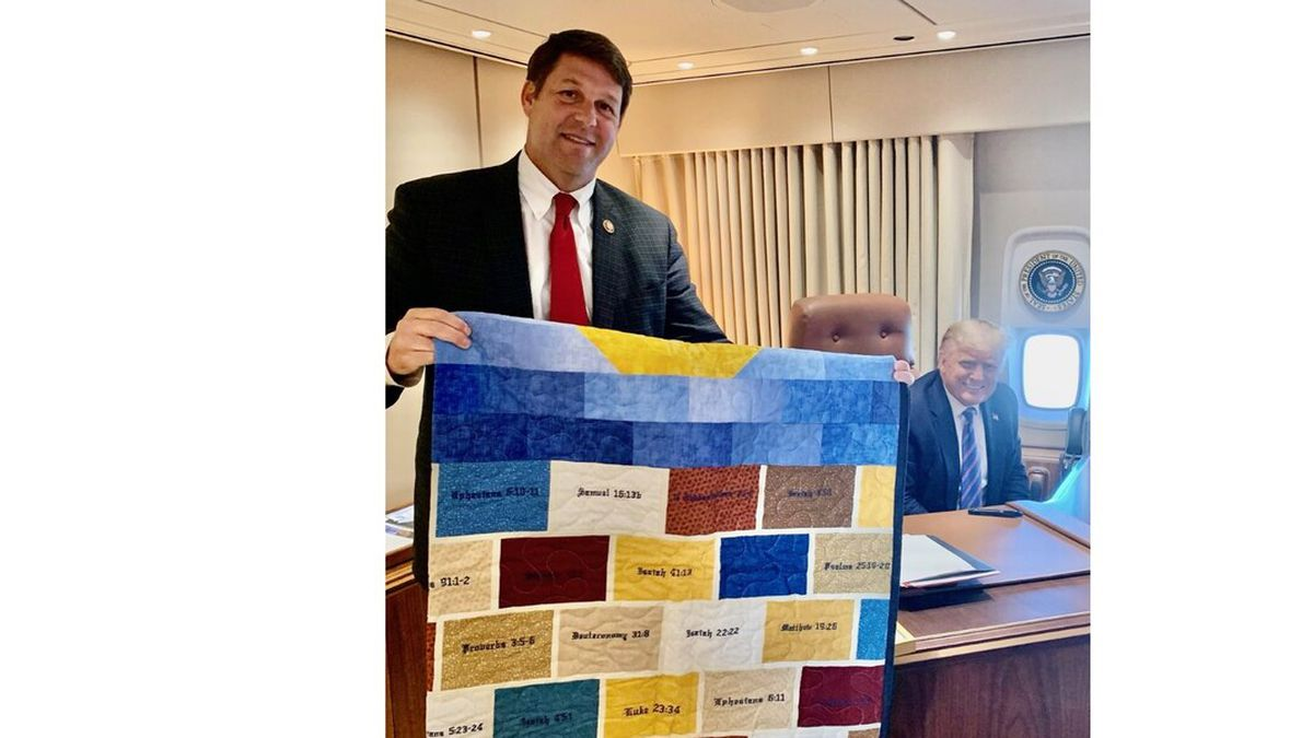 West Texas women gave President Trump a hand quilted prayer blanket.