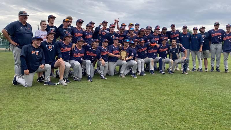 MCC Highlanders celebrate after winning the Region 5 Super Regional Series