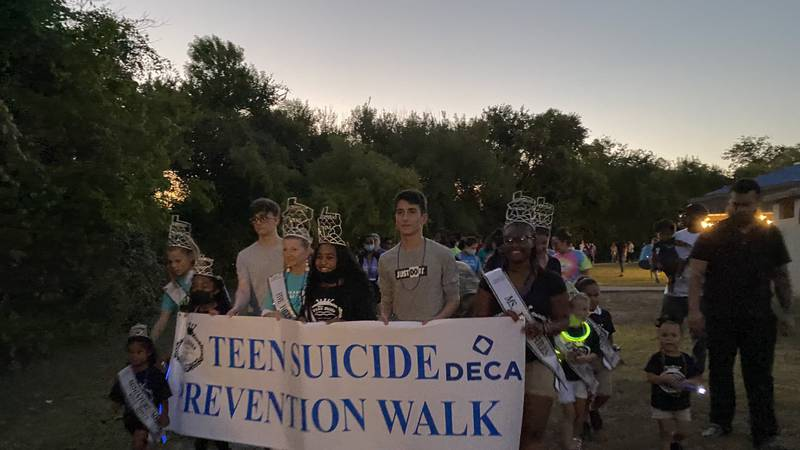 Students from Copperas Cove ISD held the 5th annual teen suicide prevention walk on Friday...