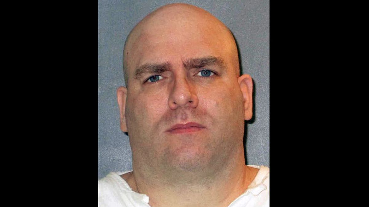 Texas death row inmate Larry Swearingen is scheduled to receive a lethal injection just after 6 p.m. Wednesday in Huntsville for the 1998 murder of a 19-year-old community college coed. (Texas Dept. of Criminal Justice photo)