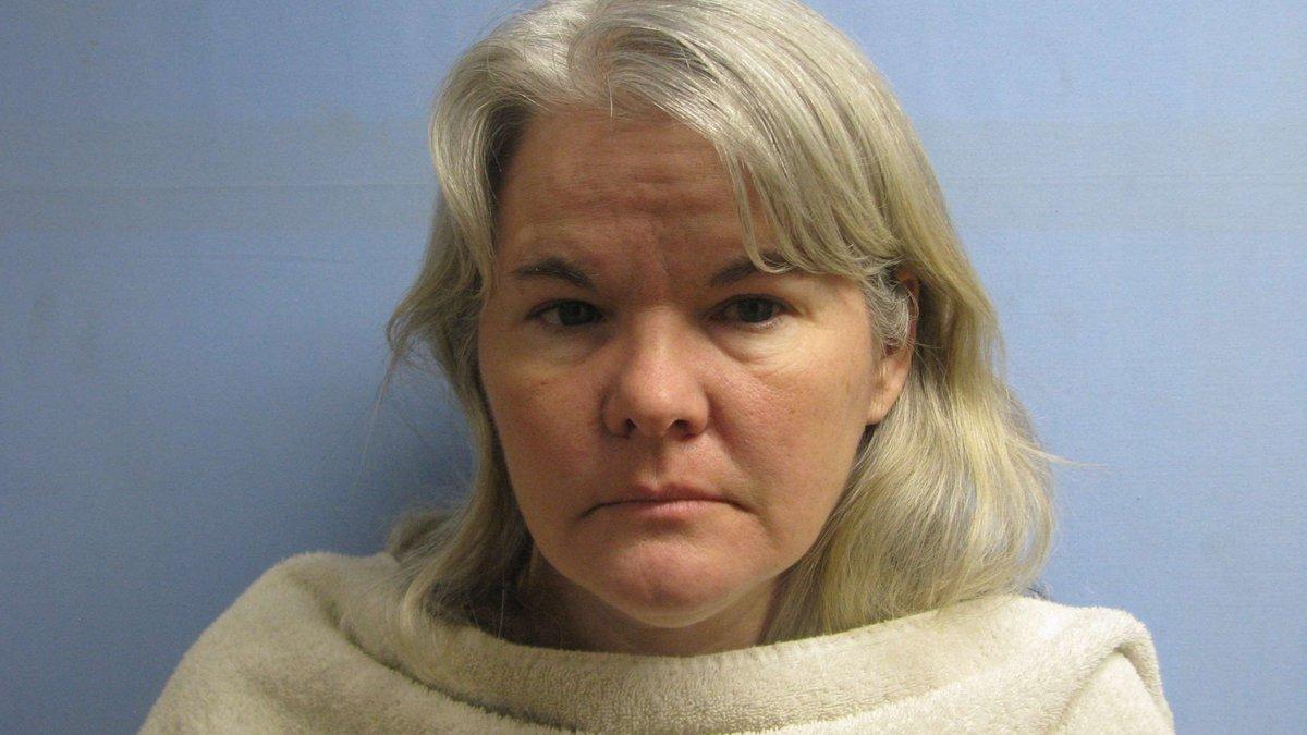 Booking photo of Tricia Brigance Hubbard (Bonham Police Dept.)