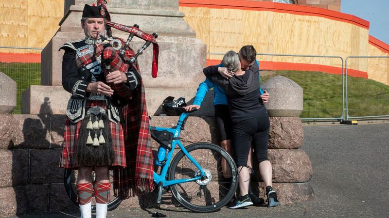 Josh Quigley finished the 516-mile North Coast 500 route in the Scottish Highlands this weekend...