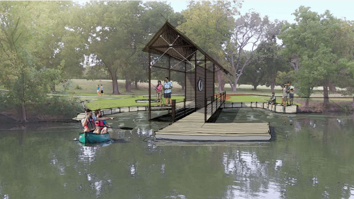 A rendering showing the expanded park. (City of Belton)
