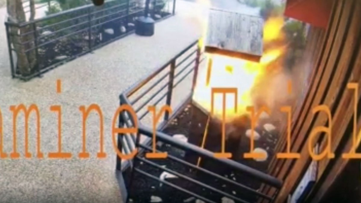 A security camera recorded the start of the fire. (Temple Fire & Rescue)