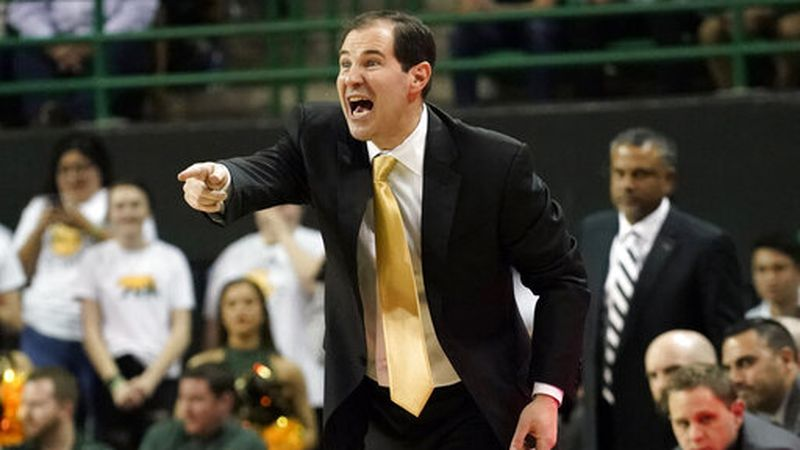 FILE - In this March 2, 2020, file photo, Baylor head coach Scott Drew directs his team against...