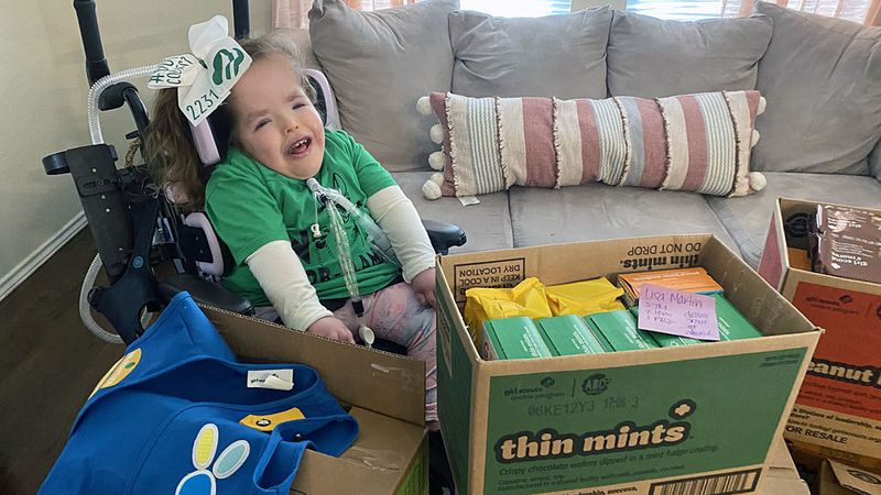 Addie Wolfe, who was born with significant chromosomal abnormalities, is a member of Troop No...