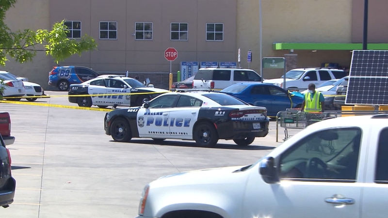Police say a North Texas woman left two boys inside her car at a Walmart parking lot. One of...