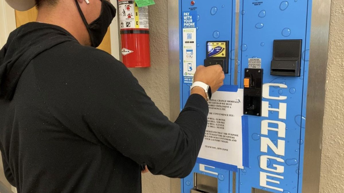 Fewer coins are in circulation and that's causing some headaches for area laundromat and car wash owners. (Photo by Megan Vanselow)