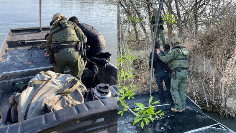 Agents rescue two individuals from drowning