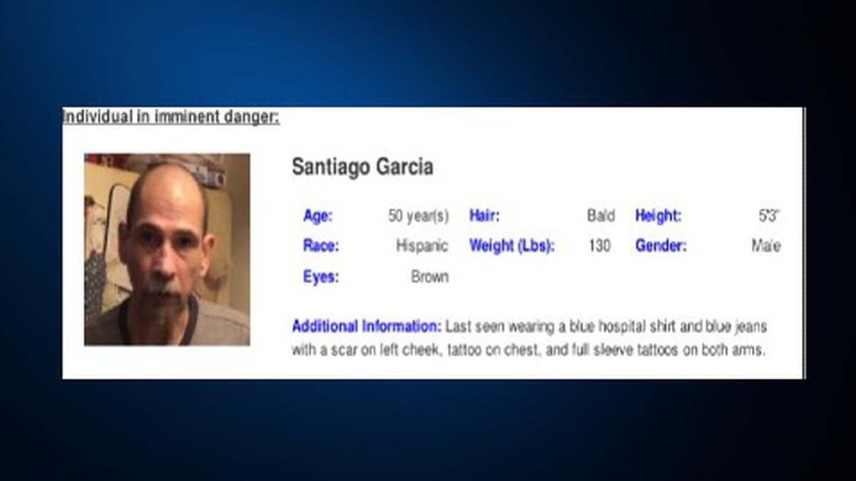 Santiago Garcia was last seen in the 800 block of Porter Street in San Antonio, Texas.