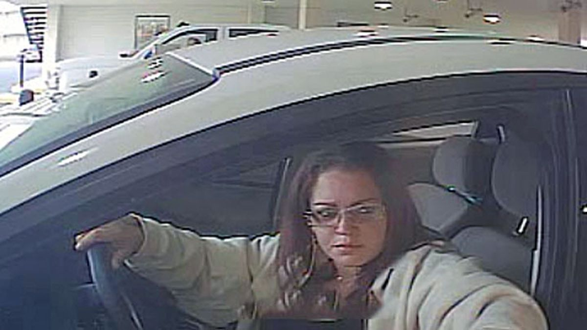Authorities released a surveillance photo Friday of a woman wanted after attempts to use a...