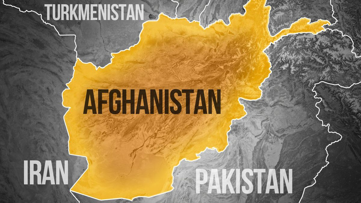 Afghan officials say Pakistan fired a barrage of rockets across its southwestern border, killing nine people and wounding 50 in an Afghan frontier town.