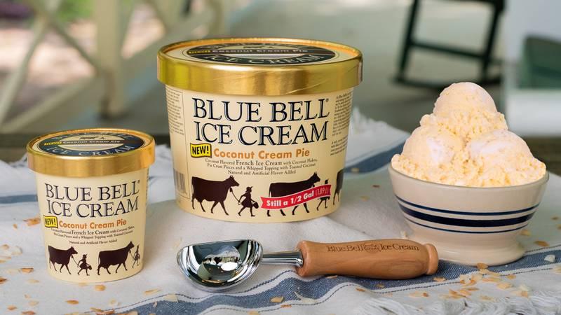 Blue Bell introduces new ice cream flavor Coconut Cream Pie