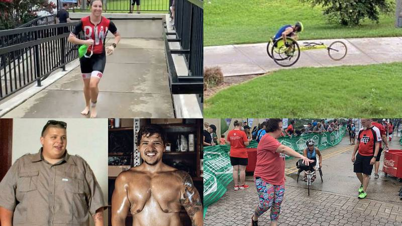 The 2021 TriWaco triathlon drew hundreds of competitors, some of whom have overcome bigger...