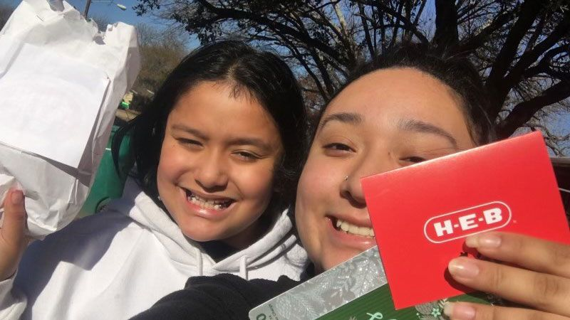 Organizers purchased gift cards this year instead of toys and gifts because of the challenges...