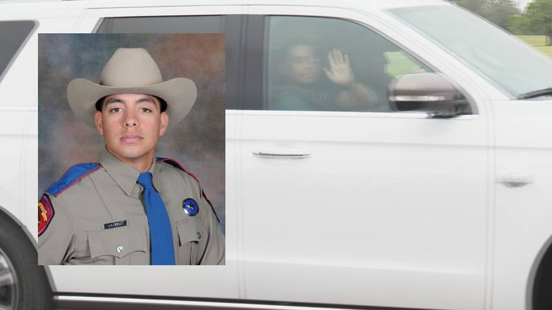 DPS Trooper Juan Tovar was shot last Thursday in Grimes County while pursuing the Kent Moore...