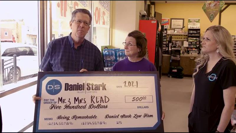 Jim and Terry Read of Mart are this week's Daniel Stark and KWTX's Be Remarkable Award Winners...