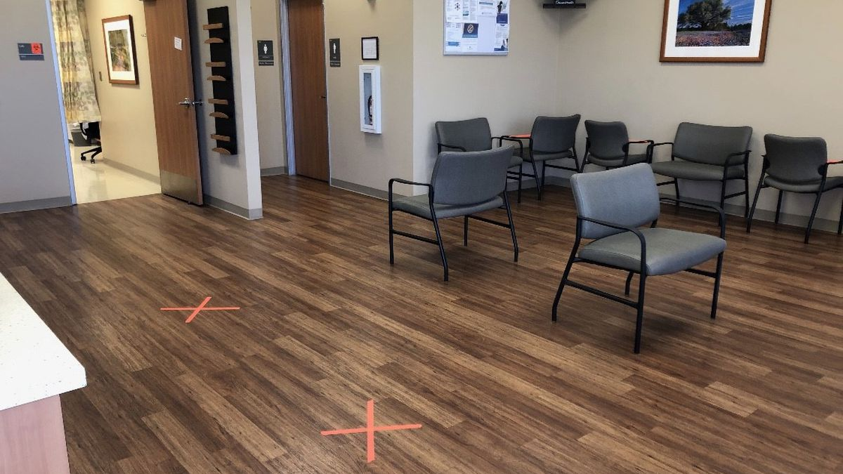 When patients enter the clinic, they can expect the same social distancing guidelines seen at other public places. (Courtesy Photo)
