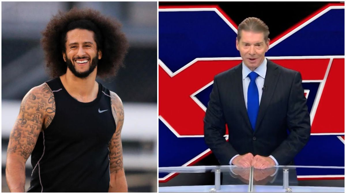 Colin Kaepernick and XFL Owner Vince McMahon