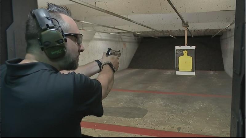 With permitless carry now legal, Gun Show Organizer Aubrey Sanders Jr. says turnout at gun...