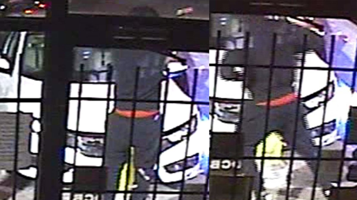 Police released security camera images of a man who opened fire on two women in a local...