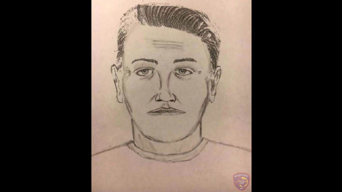 Police Tuesday released a sketch of a man who forced his way into a Killeen woman's home in 2019 and then raped her. (Police sketch)