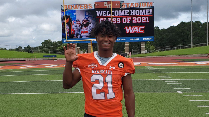 Troy's Zach Hrbacek at Sam Houston State where he will play football this Fall